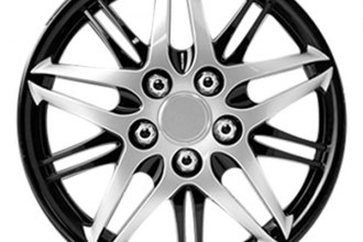 Pilot® - Formula Performance Series Silver with Black Chrome Wheel Covers 15""