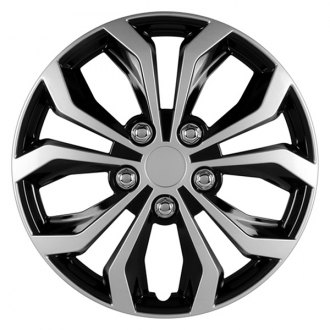"Pilot® - 14"" Black with Silver Spyder Performance Wheel Covers"