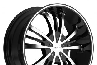 "PINNACLE® - GUNNER Black with Machined Face and Ring (18"" x 7.5"", +40 Offset, 5x108 Bolt Pattern, 74mm Hub)"