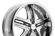 "PINNACLE® - HALO Chrome with Black Inserts (22"" x 9.5"", +15 to +25 Offsets, 5x114.3-139.7 Bolt Patterns, 108mm Hub)"