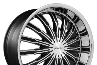 "PINNACLE® - SWAGG Black with Machined Face and Lip (22"" x 9.5"", +30 Offset, 6x139.7 Bolt Pattern, 87mm Hub)"