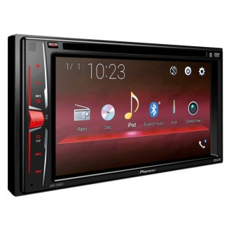 "Pioneer® - Double DIN DVD/CD/AM/FM/MP3/WMA/AAC/FLAC/WMV/MP4/AVI Receiver with 6.2"" Touchscreen Display and Built-In Bluetooth"