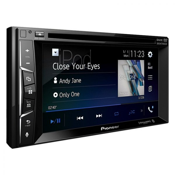 """Pioneer® - Double DIN DVD/CD/AM/FM/MP3/WMA/AAC/FLAC/WMV/MP4/AVI Receiver with 6.2"""" Touchscreen Display, Built-In Bluetooth, GPS Ready and SiriusXM Ready"""