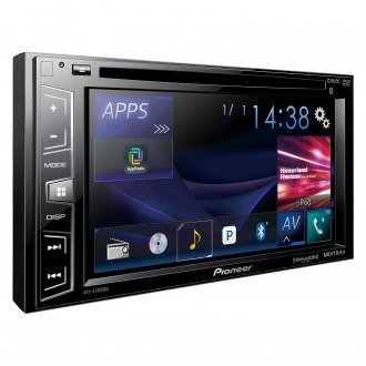 "Pioneer® - Double DIN DVD/CD/AM/FM/MP3/WMA/FLAC/AAC/MP4/AVI Receiver with 6.2"" Touchscreen Display Built-In Bluetooth and SiriusXM Ready"