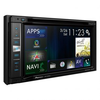 "Pioneer® - Double DIN DVD/CD/AM/FM/MP3/WMA/AAC/FLAC/WMV/MP4/AVI Receiver with 6.2"" Touchscreen Display Built-In GPS, Bluetooth, MIXTRAX and SiriusXM Ready"