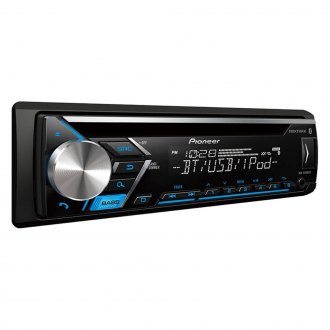 Pioneer® - Single DIN CD/AM/FM/MP3/WMA/AAC/FLAC Receiver with Built-In Bluetooth