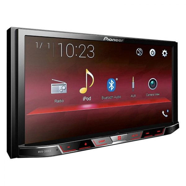 "Pioneer® - Double DIN AM/FM/MP3/WMA/AAC/MP4/AVI Digital Media Receiver with 7"" Touchscreen Display and Built-In Bluetooth"