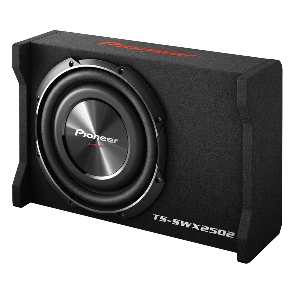 "Pioneer® TSSWX2502 - 10"" ib-Flat Series Single Shallow Mount Sealed Passive 1200W Subwoofer Enclosure"