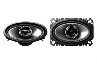 "Pioneer® - 4"" x 6"" G-Series 2-Way 200W Coaxial Speakers with Composite IMPP Cone"
