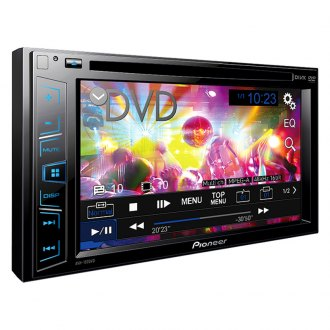 "Pioneer® - Double DIN DVD/CD/AM/FM/MP3/WMA/AAC/MP4/AVI Receiver with 6.2"" Touchscreen Display and RDS Tuner"