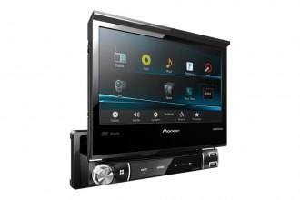 "Pioneer® - Single DIN In-Dash CD/DVD/USB A/V Receiver with 7"" WVGA Touchscreen Display and MIXTRAX, AppRadio for iPhone® 4s and iPhone 4"