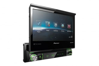 "Pioneer® - Single DIN In-Dash CD/DVD/USB Multimedia A/V Receiver with 7"" WVGA Touchscreen Display and MIXTRAX, AppRadio, Bluetooth"