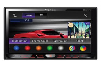 "Pioneer® - Double DIN DVD/MP3/CD/USB/SD Receiver with 7"" LCD Monitor and Bluetooth"
