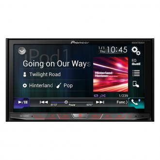 "Pioneer® - Double DIN Flagship Multimedia DVD Receiver with 7"" WVGA Touchscreen Display"