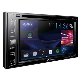 "Pioneer® - Double DIN DVD/CD/AM/FM/MP3/WMA/AAC/FLAC Receiver with 6.2"" Display, Siri Eyes Free, SiriusXM-Ready, Spotify and AppRadio One"