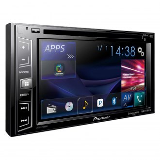 "Pioneer® - Double DIN DVD/CD/AM/FM/MP3/WMA/AAC/FLAC Receiver with 6.2"" Display, Built-In Bluetooth, Siri Eyes Free, SiriusXM-Ready, Spotify and AppRadio One"