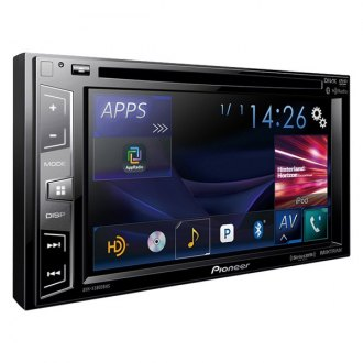 "Pioneer® - Double DIN DVD/CD/AM/FM/MP3/WMA/AAC/FLAC Receiver with 6.2"" Display, Built-In Bluetooth, Siri Eyes Free, SiriusXM-Ready, HD Radio, Spotify, AppRadio One and Dual Camera Inputs"
