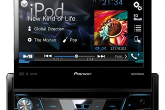 "Pioneer® - Single DIN DVD/MP3/CD/USB/SD Receiver with 7"" Display and Bluetooth"