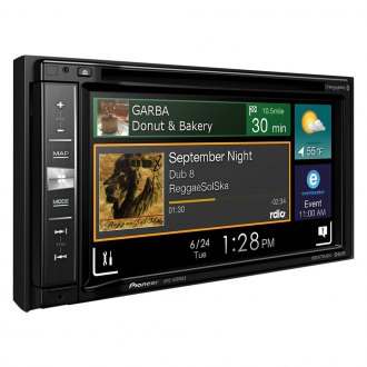 "Pioneer® - Double DIN DVD/CD/AM/FM/MP3/WMA/FLAC/WMV/JPEG In-Dash Receiver with 6.2"" WVGA Touchscreen Display and Navigation"