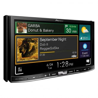"Pioneer® - Double DIN DVD/CD/AM/FM/MP3/WMA/FLAC/WMV/JPEG Flagship In-Dash Receiver with 7"" WVGA Capacitive Touchscreen Display and Navigation"