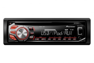 Pioneer® - Single DIN In-Dash CD RDS Receiver with MIXTRAX, USB and iPhone/iPod Control