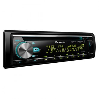 Pioneer® - Single DIN CD/AM/FM/MP3/WMA/AAC/FLAC Receiver with Built-In Bluetooth, HD Radio, Spotify App Control and Pandora