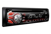 Pioneer® - Single DIN In-Dash CD/MP3/WMA/AM/FM Stereo Receiver with Android Media Sync, iPhone and Pandora Radio Support