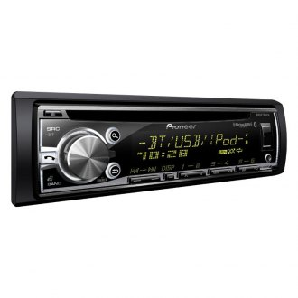 Pioneer® - Single DIN CD/AM/FM/MP3/WMA In-Dash Receiver with Built-In Bluetooth, MIXTRAX, Siri Eyes Free, USB Playback android Music Support, Color Customization