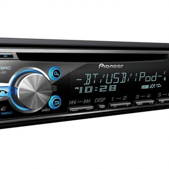 Pioneer® - Single DIN In-Dash CD/MP3 Receiver with MIXTRAX, Bluetooth, SiriusXM Ready, Siri Eyes Free, USB Playback and Android Music Support