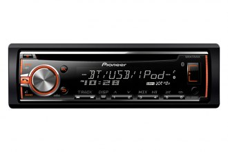 Pioneer® - Single-Din In-Dash CD Receiver with MIXTRAX, Bluetooth, Siri Eyes Free, USB, Pandora, Android Music Support and Color Customization
