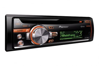 Pioneer® - Single DIN In-Dash CD/MP3/WMA/AM/FM Stereo Receiver with HD Radio, iPod Control, Pandora Support and Rear USB Input