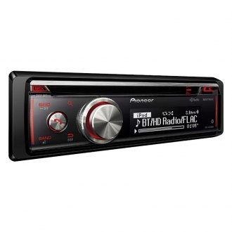 Pioneer® - Single DIN CD/AM/FM/MP3/WMA/AAC/FLAC Receiver with Built-In Bluetooth, HD Radio, Siri Eyes Free android Music Support and Pandora
