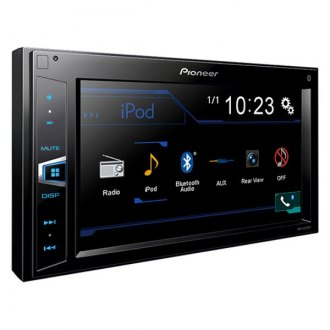 "Pioneer® - Double DIN AM/FM/MP3/WMA/AAC Receiver with 6.2"" Touchscreen Monitor Built-In Bluetooth"