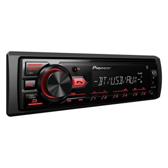 Pioneer® - Single DIN AM/FM/MP3/WMA/FLAC In-Dash Digital Media Receiver with Built-In Bluetooth