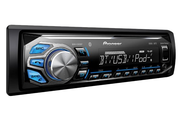 Pioneer® - Single DIN In-Dash Bluetooth Digital Media Car Stereo Receiver with Remote, AUX, USB Input