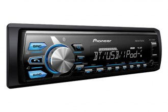 Pioneer® - Single DIN MP3 Receiver with Remote, AUX, USB Input and Bluetooth
