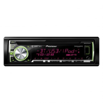 Pioneer® - Single DIN CD/MP3/WMA/AM/FM In-Dash Stereo Receiver with Built-In Bluetooth Refurbished