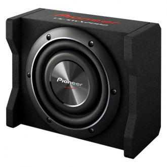 "Pioneer® - 8"" Shallow-Mount Pre-Loaded 600W Subwoofer Enclosure"