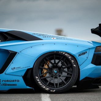 PIRELLI® - Tires on Blue Lamborghini Aventador
