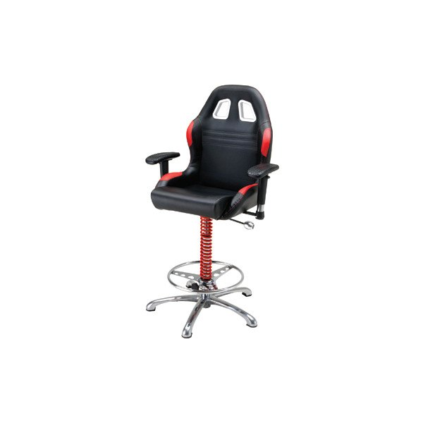 PitStop Furniture® - Black-on-Red Bar Chair