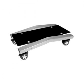 PitStop Furniture® - Black Glass Computer Tower Tray