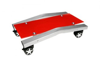 PitStop Furniture® - Red Glass Computer Tower Tray