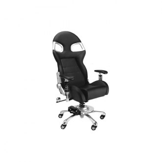 PitStop Furniture® - Formula One Series Black-on-Black Chair
