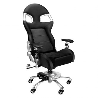 PitStop Furniture® - LXE Office Black-on-Carbon Fiber Chair
