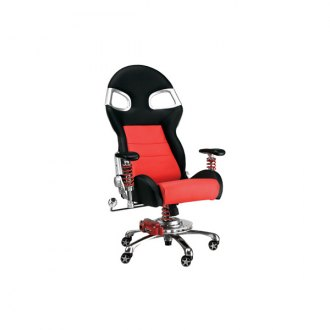 PitStop Furniture® - Formula One Series Black-on-Red Chair