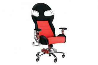 PitStop Furniture® - LXE Office Black-on-Red Chair