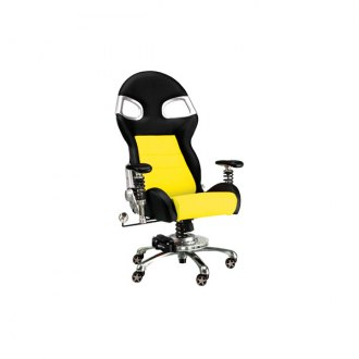 PitStop Furniture� - Formula One Series Black-on-Yellow Chair