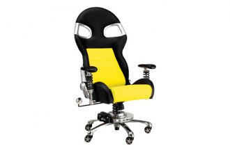 PitStop Furniture® - Formula One Series Black-on-Yellow Chair