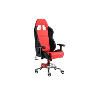 PitStop Furniture® - GT Office Black-on-Red Chair