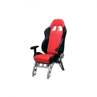 PitStop Furniture® - GT Receiver Series Black-on-Red Chair